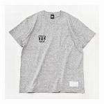 【325】スモールロゴ  ジャストフィット ポケット付きTシャツ メンズ  グレー