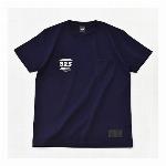 【325】スモールロゴ ジャストフィット ポケット付きTシャツ メンズ  ネイビー