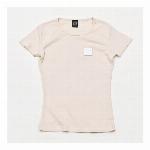【325】スリムフィット フライス Tシャツ カジュアル シンプル レディース ナチュラル