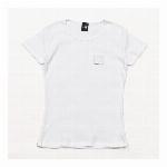 【325】スリムフィット フライス Tシャツ カジュアル シンプル レディース ホワイト  ジャンル