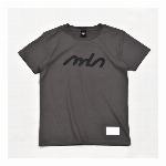 【325】レタリング シンプル ロゴ Tシャツ カジュアル レディース チャコール