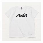 【325】レタリング シンプル ロゴ Tシャツ カジュアル レディース ホワイト
