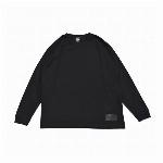 【325】ユースフル スタンダード ロングスリーブTシャツ シンプル メンズ レディース ブラック