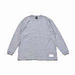 【325】ユースフル スタンダード ロングスリーブTシャツ シンプル メンズ レディース グレー