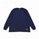 【325】ユースフル スタンダード ロングスリーブTシャツ シンプル メンズ レディース ネイビー