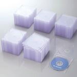 エレコム Blu-ray/DVD/CDケース(スリム/PS/1枚収納) クリア 100枚パック