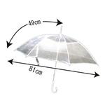 ビニール傘  白色透明 〔60本組み〕