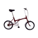 16インチ折りたたみ自転車 Classic Mimugo FDB16 クラシックレッド