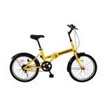 26インチ折りたたみ自転車 HUMMER FD-MTB26 18S イエロー