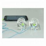 耳模型 イヤホン販売等にご利用頂けます 合成樹脂製 透明  両耳セット I-EM-W02
