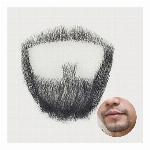 付け髭 ボックススタイル 人毛100% お好みの濃さをお選び頂けますRM-1002