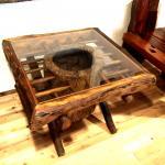 チーク材木製テーブル 四角