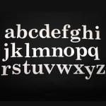 H40?ステンレス製アルファベット切り文字(明朝体小文字)【DIYに最適!簡単に最高級表札が完成します!】