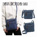 小さめサイズのかわいいデニムショルダーバッグ ミニショルダーバッグ デニム生地 SSA26 レディースバッグ