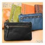 日本製本革 栃木レザー[ジーンズ]小さいサイズで持ち歩きやすい セカンドウォレット スリム財布 L-20584