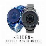 【BIDEN バイデン】SEIKOムーブメント 日常生活防水 シックな文字盤でクールに決まる BD010 メンズ腕時計
