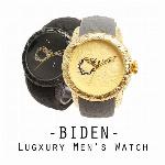 【BIDEN バイデン】日本製CITIZENムーブメント 日常生活防水 凛々しい龍 和柄 BD011 メンズ腕時計