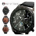フェイクダイヤル サン&ムーン 盛りだくさんの文字盤で魅せる HM004 Hannah Martin メンズ腕時計