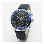 取寄品 正規品 SalvatoreMarra 腕時計 サルバトーレマーラ SM19108-SSBKBL クロノグラフ 革ベルト メンズ腕時計
