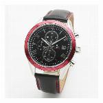取寄品 正規品 SalvatoreMarra 腕時計 サルバトーレマーラ SM19108-SSBKRD1 クロノグラフ 革ベルト メンズ腕時計