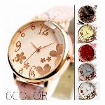 手元にパッと花開く! 魅力あふれたかわいい桜模様ベルト クリスタルカット SPST034 レディース腕時計