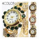 眩い存在感がひときわ目立つ ぱっと映えるゴールドチェーン バングルウォッチ SPST035 レディース腕時計
