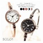 温もりのあるアンティーク調バングルウォッチ ワイヤー 小さめ美しい シンプル SPST036 レディース腕時計