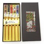 お箸5膳セット 舞妓と日本めぐり (商品コード:303-310)
