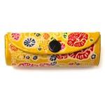 本革リップケース 沖縄 紅型 オレンジ (商品コード:319-413)