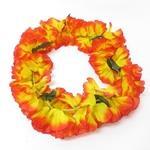 カラフルでボリューミーなハイビスカスレイ <オレンジ>(商品コード:609-701)