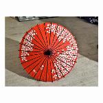 踊り傘/和傘 (装飾用) 村上 もみじ紫