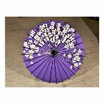 踊り傘/和傘 (装飾用) 村上 大梅花葉紫