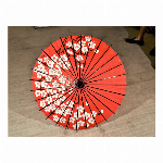 踊り傘/和傘 (装飾用) 村上 大梅花葉赤