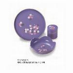 桜菓子鉢丸盆茶筒揃 あけぼの桜