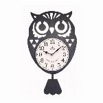 フクロウ振り子時計 BK