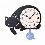 クーナ振り子時計 クロネコ
