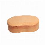 木製 一段  くりぬき 豆型 ナチュラル バンド付き 弁当箱
