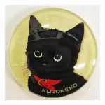 猫マグネット Cat black