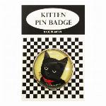 猫ピンバッチ ねこピンズ ブラック Cat black 猫イラスト Cat Pins
