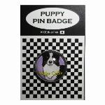 犬ピンバッジ ドッグpins ボーダーコリー BL 20mm