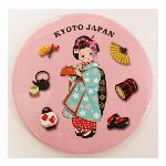 缶ミラー ブリキミラー日本のお土産舞妓ミラー