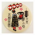 缶ミラー ブリキミラー日本のお土産花見小路ミラー