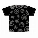 【特価20%OFF】家紋Tシャツ 黒 和柄Tシャツ 日本のお土産