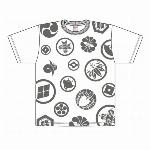 【特価20%OFF】家紋Tシャツ 白  和柄Tシャツ 日本のお土産