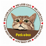 Tシャツ猫   猫イラストTシャツ ピークアブー 猫Tシャツ 100 キッズサイズ