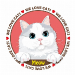 Tシャツ猫   猫イラストTシャツ ミヤオ 猫Tシャツ 100 キッズサイズ