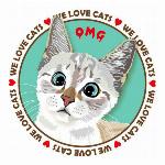 Tシャツ猫   猫イラストTシャツ オーマイゴッド 猫Tシャツ GS ガールズ Sサイズ