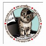 Tシャツ猫 猫イラストTシャツ ピアノ 猫Tシャツ GS ガールズ Sサイズ