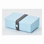 デンマーク製 折り畳み式ランチボックス&多目的ボックス uhmm box No.01 ライトブルーボックス/ダークグレーストラップ