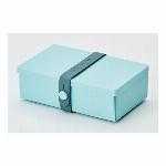 デンマーク製 折り畳み式ランチボックス&多目的ボックス uhmm box No.01 ミントグリーンボックス/ぺトロールストラップ